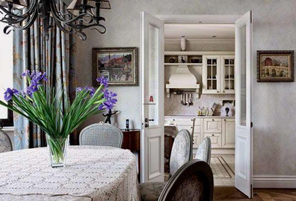 Гостиная в стиле французский прованс