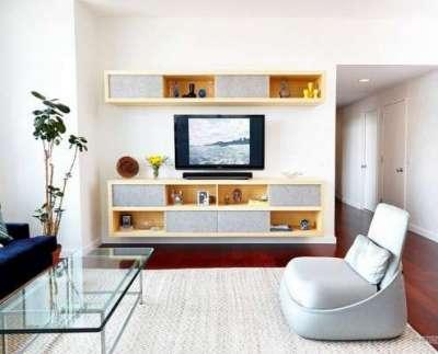 журнальный столик в гостиной в стиле минимализм