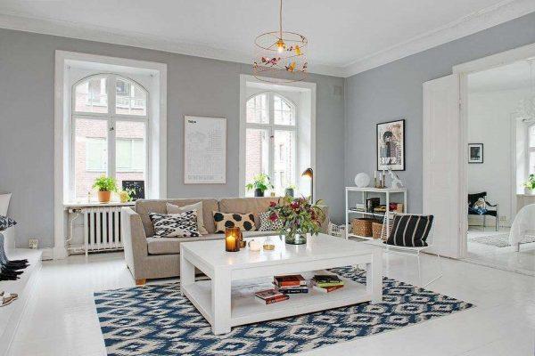 гостиной в стиле минимализм скандинавский стиль