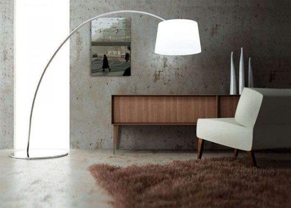Бетонные стены в гостиной в стиле минимализм