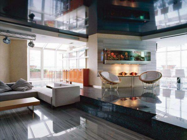 современная гостиная в стиле модерн
