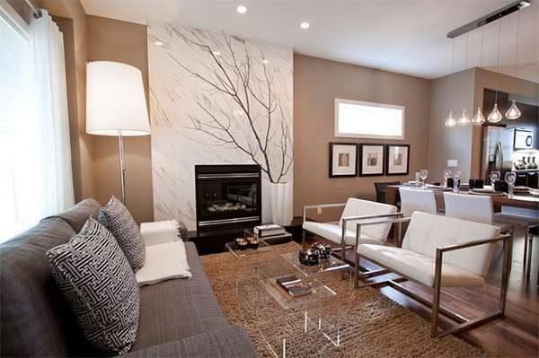бежевый цвет в интерьере гостиной в стиле модерн