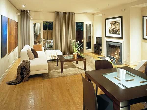 бежевый цвет гостиной в стиле модерн