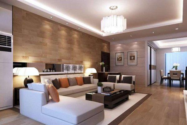освещение в интерьере гостиной в стиле модерн