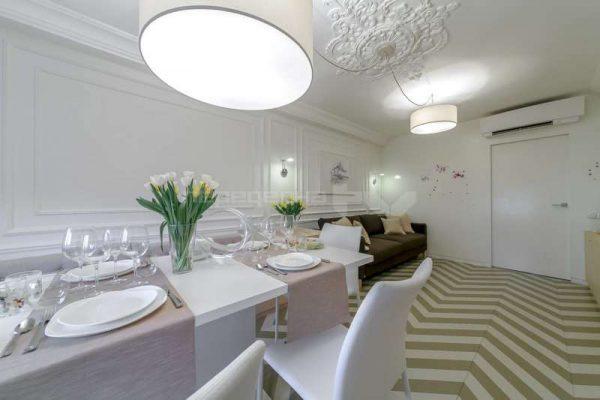 освещение обеденного стола в гостиной