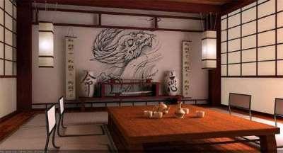 мебель в гостиной в японском стиле