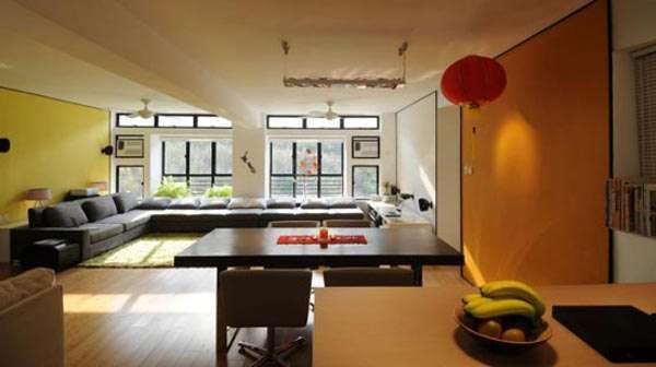 японские шары в интерьере гостиной в японском стиле
