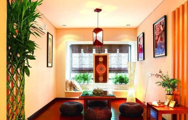 традиционный интерьер гостиной в японском стиле