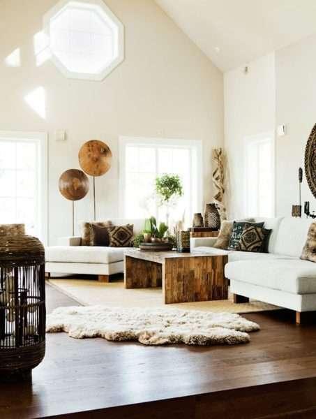 скандинавский стиль в интерьере гостиной частного дома
