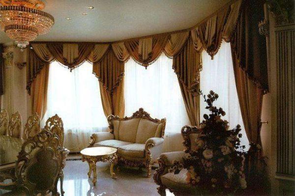 классический интерьер гостиной в современном стиле