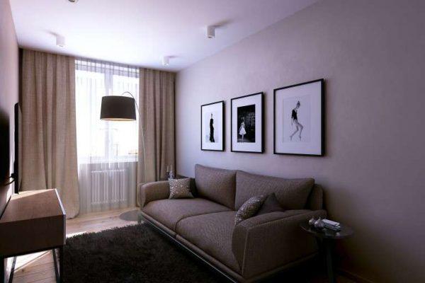 Интерьер гостиной 18 кв м в хрущёвке