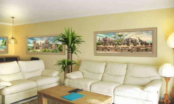 настенные картины в интерьере гостиной 18 кв м в хрущёвке