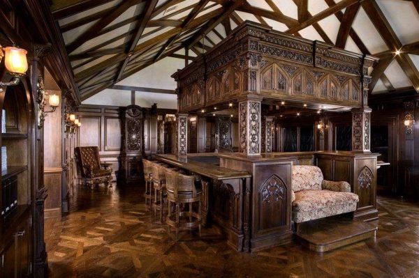 готика в интерьере гостиной