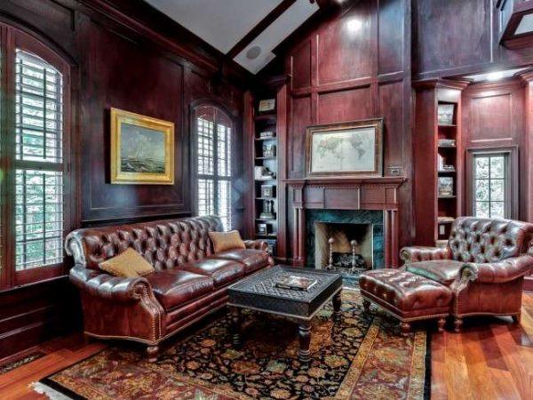 Классический английский стиль в интерьере гостиной