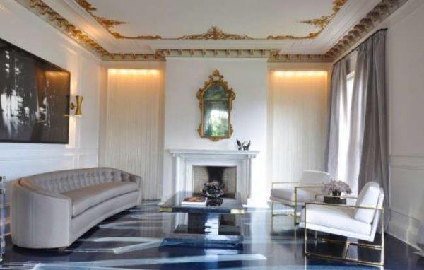 минимализм в гостиной в классическом стиле