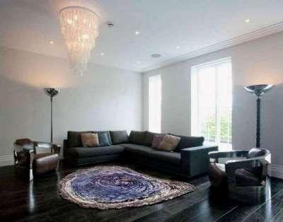 самодельный ковёр в интерьере гостиной