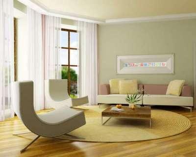 ковёр круглый в интерьере гостиной