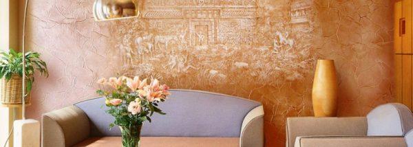 настенный декор в интерьере кухни гостиной 15 кв. м