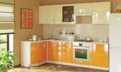 угловая кухня в интерьере кухни гостиной 15 кв. м