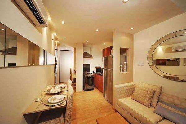 функциональное размещение мебели в интерьере кухни гостиной 15 кв.м