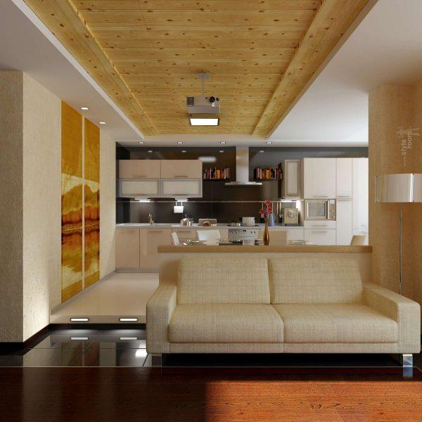 подиум на кухне-гостиной