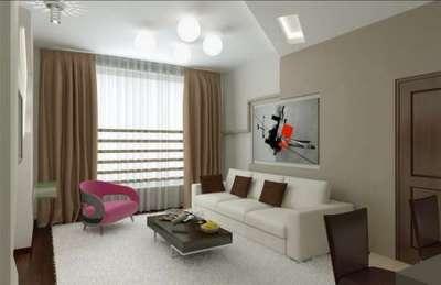 Интерьер небольшой гостиной в стиле минимализм