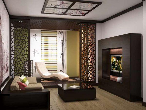 Интерьер небольшой гостиной в минималистическом стиле