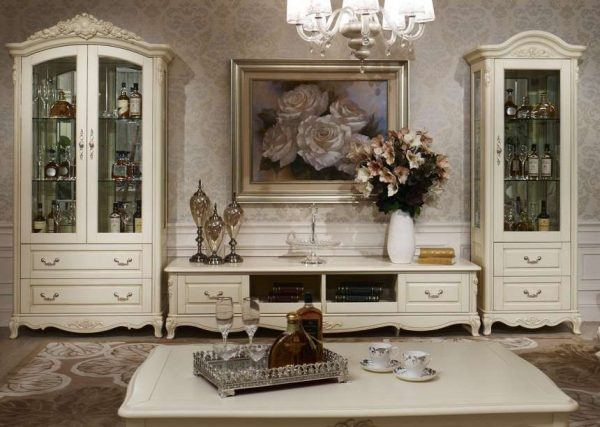 белая мебель в классическом стиле