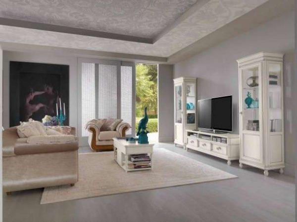 модульная белая стенка для гостиной