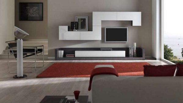 фигурная модульная мебель для гостиной