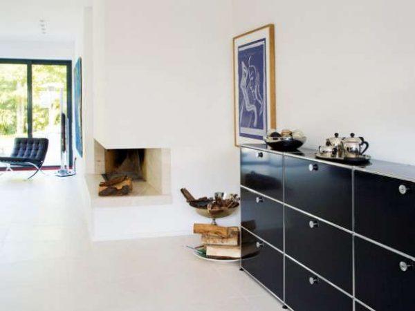 низкая модульная мебель для гостиной