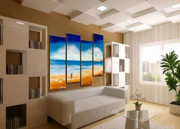 модульная картина с морским пейзажем