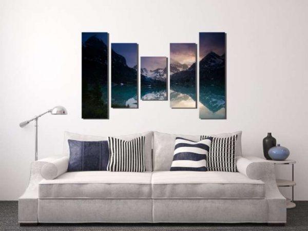модульная картина с пейзажем гор
