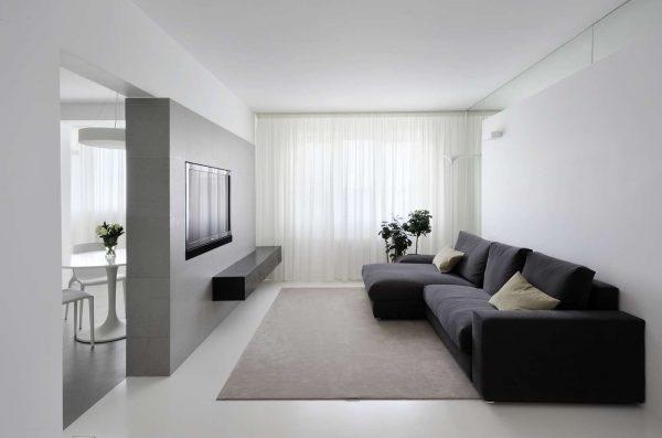 минималистический стиль в интерьере гостиной эконом класса
