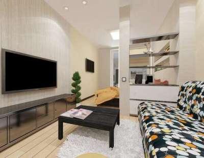 простая мебель в интерьере гостиной эконом класса