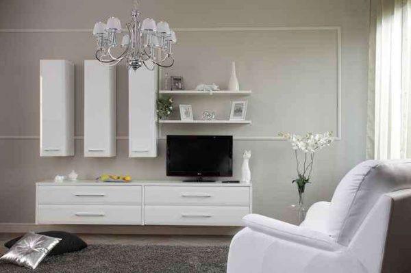 мебель в интерьере гостиной эконом класса