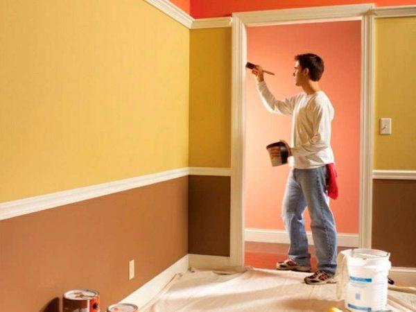 покраска стен краской своими руками