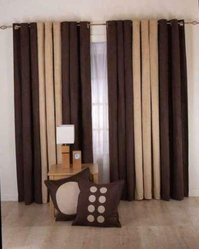 шоколадные двухцветные шторы