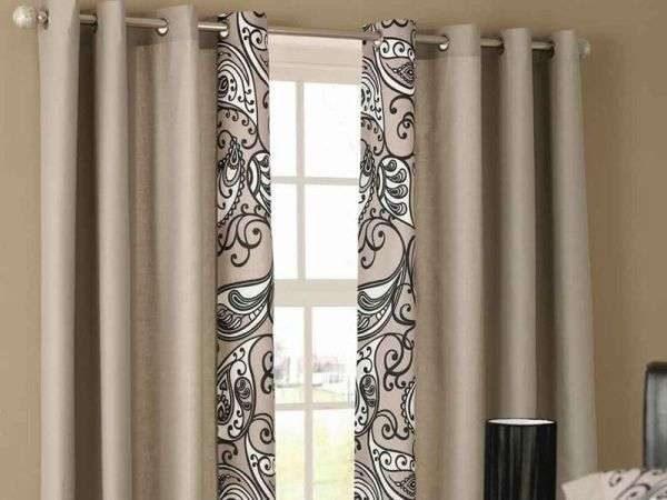 простые шторы в интерьере гостиной
