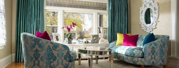 шторы классические в интерьере гостиной