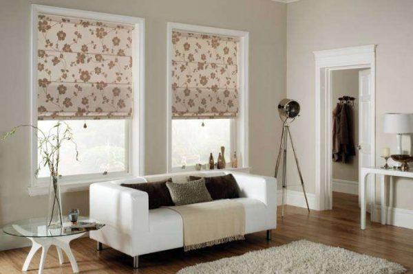 шторы в интерьере гостиной