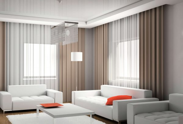 традиционные шторы в гостиной