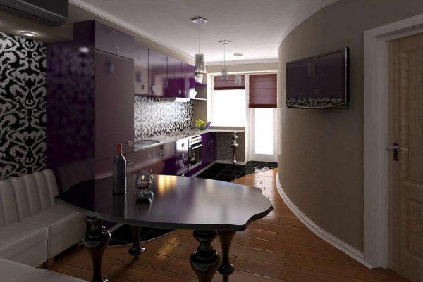 современная классика с фиолетовым оттенком