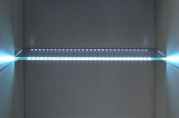 Светильники из светодиодной ленты для серванта