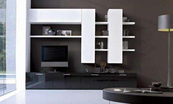 корпусная мебельная стенка горка для гостиной