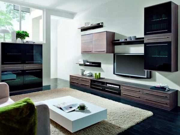 модульная мебельная стенка горка для гостиной
