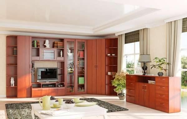 Стенка в гостиную в современном классическом стиле