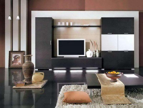 Стенка в гостиную в минималистическом стиле