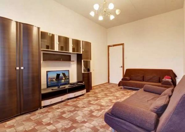 корпусная стенка со шкафом для гостиной