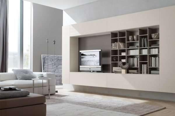 стенка мебельная для гостиной в стиле хай тек